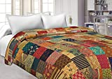Tribal Asian Textiles Floral Kantha Blanket Quilted Throws,ralli,gudari Handmade Tapestery Reversible Bedding