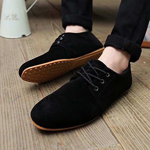 YING LAN Men British Style Fashion Simple Gentlemen Sneakers Sports Casual Walking Flat Lazy Low Shoes Black czRpY2