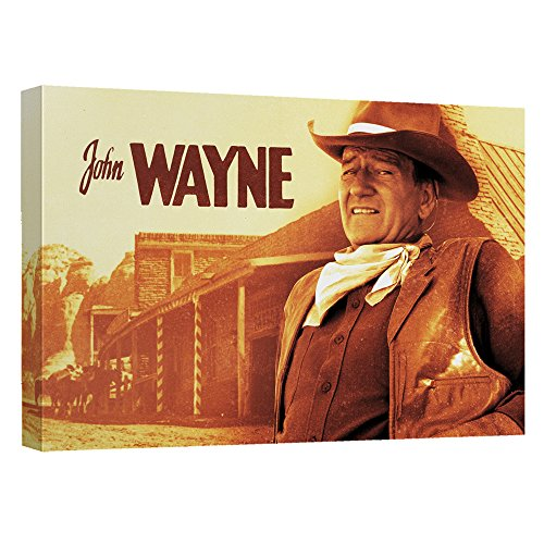 Old West – -ジョン・ウェイン – - STRETCHED CANVAS FRAMED artwrap 12x16 Inches TR-DUKE116-ADV2-12x16の商品画像
