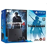 Console PlayStation 4 1 To Chassis D Slim Noir + Uncharted 4 + Rise Of The Tomb Raider