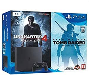 Console PlayStation 4 1 To Chassis D Slim Noir + Uncharted 4 + ...