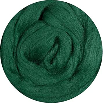 Weir Crafts Merino Wool Roving for Felting - PINE (SAVE: 4 ounces)
