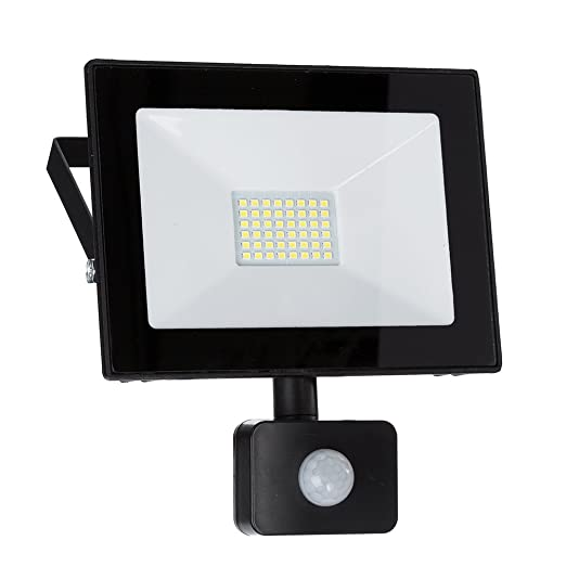 Hervorragend LED Strahler mit Bewegungsmelder, LED Fluter, 50 Watt Kaltweiss AU64