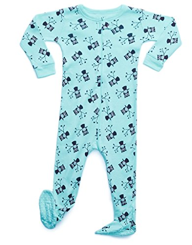 ece37e6a38 Leveret Baby Boys Footed Pajamas Sleeper 100% Cotton Kids   Toddler Owl Pjs  (6