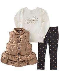 Baby Girls' 3 Pc Puffer Vest Set