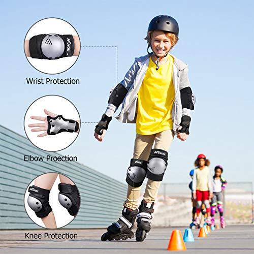 Vogvigo Skateboard Protect Knee Pad Kids Skating Cycling Running Wrist Guards Roller Skate Beginner Protective Set