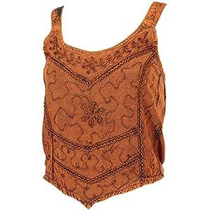 Guru-Shop, Ricamato Top Boho Chic, Hippie Top, Dimensione Indumenti:38, Magliette top