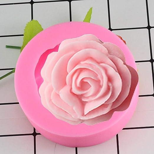 Molde De Silicona Para Hornear Molde De Jabón En Forma De Rosa 3D ...