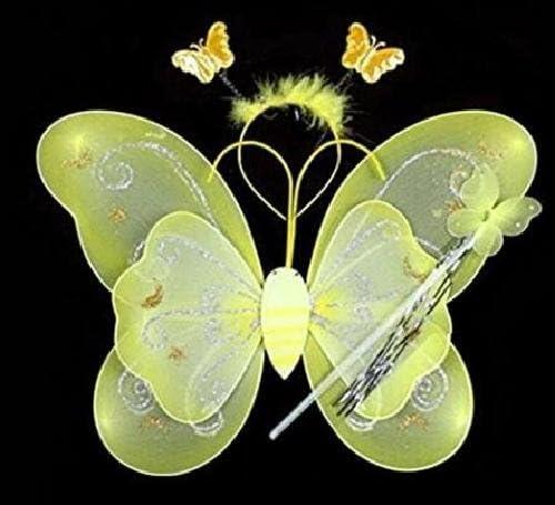 Disfraz de hada, alas de hada-mariposa para niñas y niños, varita ...