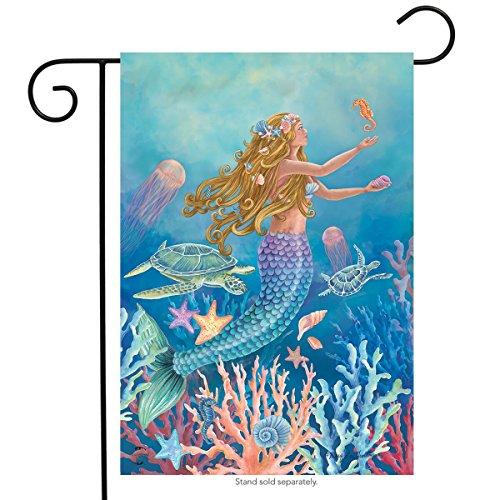 Mermaid Summer Garden Flag Nautical Fish 12.5