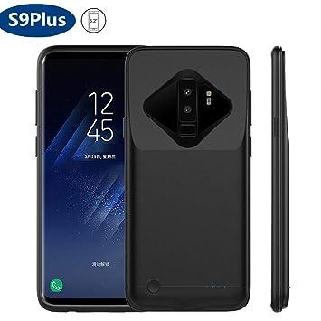 HOTSO Cargador Portátil Funda de Batería para Samsung Galaxy S9+, 5200mAh Carcasa Power Bank Batería Externa Recargable Inalámbrica Diseño Nuevo ...