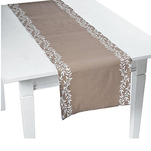 12' Dinner Candles - Bargain World Sweet Fall Fabric Table Runner (With Sticky Notes)