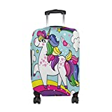 ALAZA Unicorn Rainbow Love Heart Star Luggage Suitcase Cover Case Protector