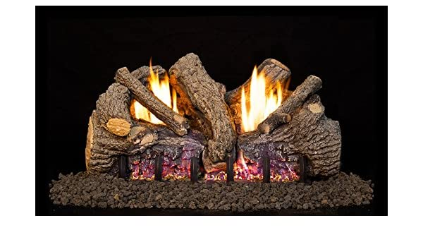 Amazoncom Real Fyre 30 Inch Foothill Oak Vent Free Gas Logs