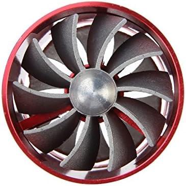 F1-Z coche acero inoxidable universal Supercharger doble turbina entrada de aire ahorrador combustible Turbo turboing Cargador Kit ventilador rojo: Amazon.es: Coche y moto