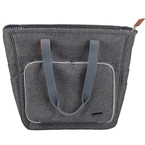 Luxja Knitting Tote Bag, Yarn Storage Bag for Carrying Projects, Knitting Needles, Crochet Hooks and Other Accessories, Gray by LUXJA (Image #8)