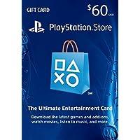$60 PlayStation Store Gift Card - PS4 / PS3 / PS Vita...