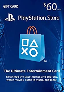 $60 PlayStation Store Gift Card [Digital Code] (B00XJZHJCA) | Amazon price tracker / tracking, Amazon price history charts, Amazon price watches, Amazon price drop alerts