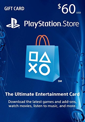 $60 PlayStation Store Gift Card [Digital Code] (Xbox 65 Dollar Gift Card)