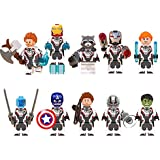 Dindo 10 Super Heroes Minifigures, Super Heroes Action Figures with Accessories, Building Blocks Avengers Toys for Kids