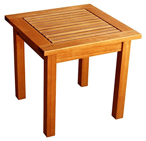 LuuNguyen Outdoor Hardwood Side Table (Natural Wood Finish)
