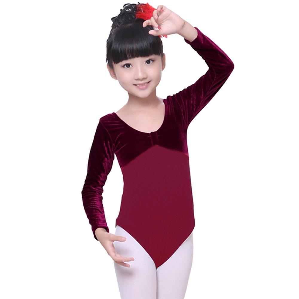 02c96052efc3 Amazon.com  KINDOYO Kids Children Girls Cotton Long Sleeve Ballet ...