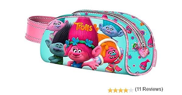 TROLLS Portatodo con asa, Color Turquesa, 20 cm (Karactermanía 94232): Amazon.es: Juguetes y juegos