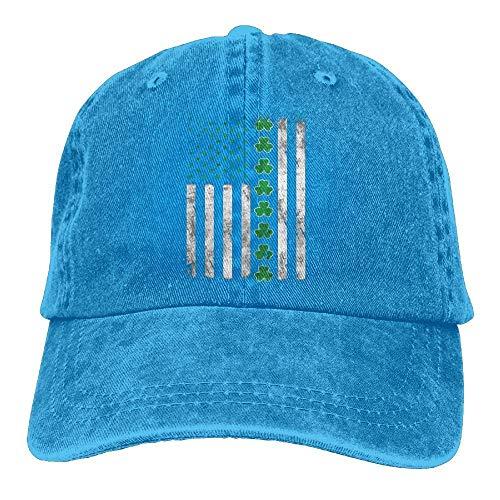 jinhua19 Gorras béisbol Sports Denim Cap Irish American Flag ST. Patrick's Day Women Baseball Cap Adjustable Dad Hat