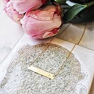 "Gold Bar Necklace, Initial Bar Neckalce, Bar Necklace Gold, Handmade Letter ""r"" Initial Ha"