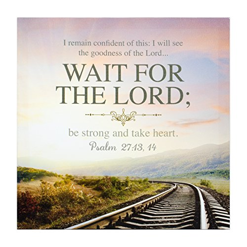 - P. GRAHAM DUNN Confident of This Wait for The Lord 12 x 12 Gallery Wrapped Canvas Wall Art