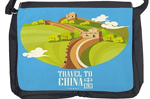 Borsa Tracolla Vacanza Agenzia Viaggi Cina Stampato