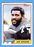 Joe Greene 1981 Topps Football **Hall of Famer**(Steelers)