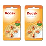 8 Pack Kodak Hearing Aid Battery Size 13 (PR48, K13ZA) 1.45V EXP 2018
