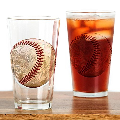 CafePress Baseball_Ball Pint Glass, 16 oz. Drinking Glass