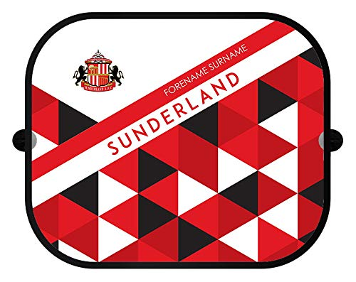 Sunderland Personalised AFC Patterned Pair of Car Sunshades