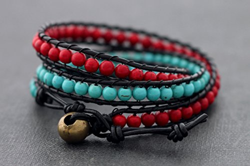 ts Fire And Ice Contrast Hot Cool Stone Coral Turquoise Exotic Tribal ()