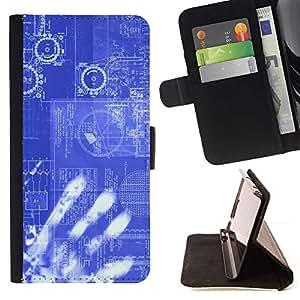 Momo Phone Case / Flip Funda de Cuero Case Cover - Tecnología Código Computing Es Robot Ai - Samsung Galaxy S6 Active G890A
