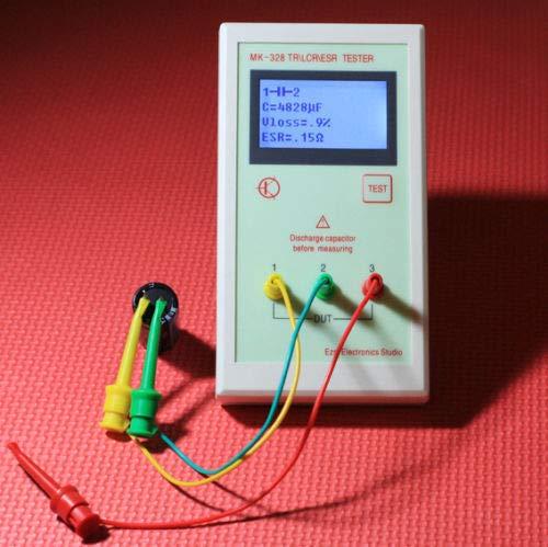 DP-iot Portable MK-328 ESR Meter Tester Transistor inductance capacitance Resistance LCR Test MOS/PNP/NPN Automatic - Portable Meter Lcr
