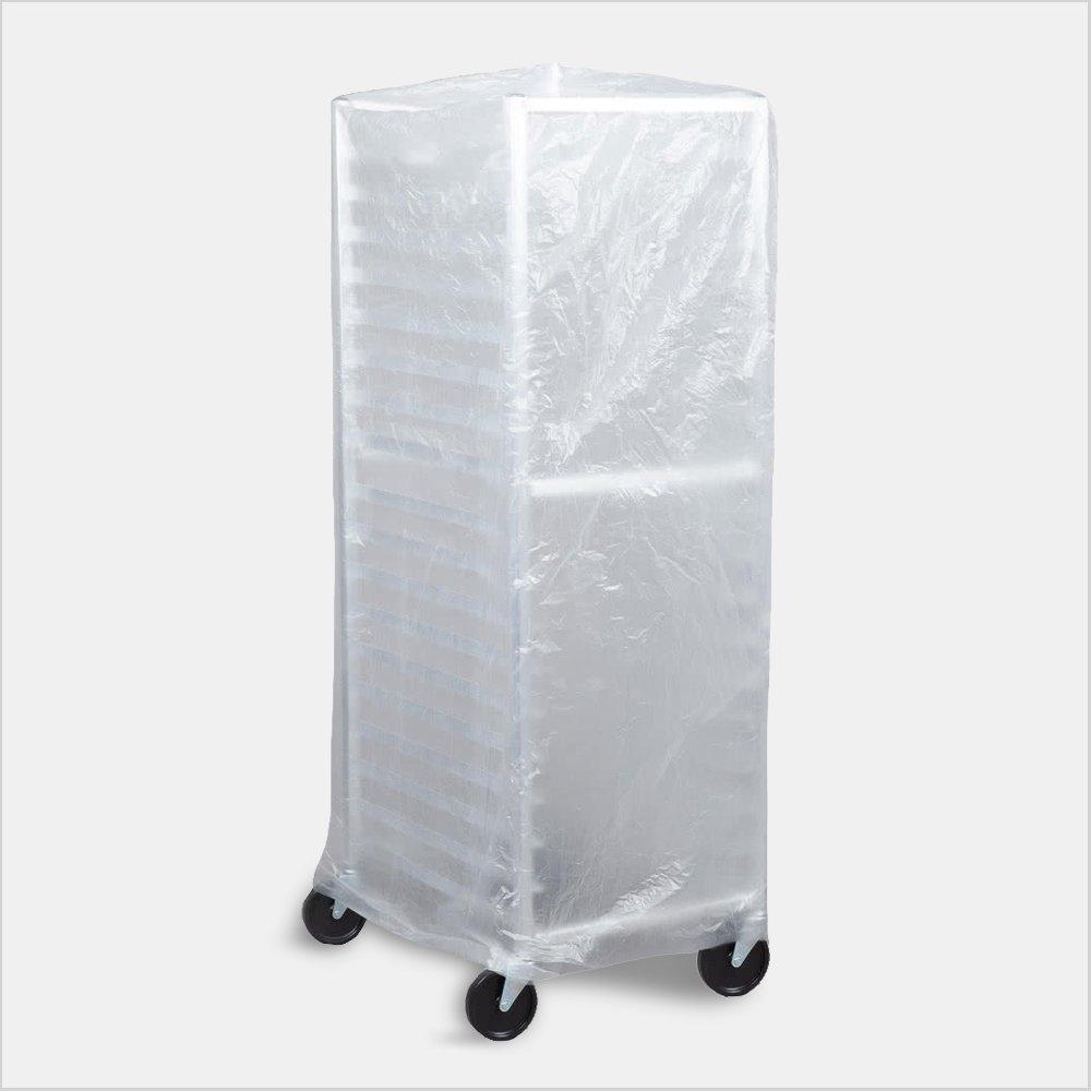 Bun Pan Rack Covers, High Density Polyethylene, Satin Clear, Food Safe  (Case of 50 Covers)