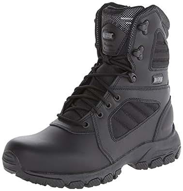 Magnum Men's Response III 8.0 Side-Zip Slip Resistant Work Boot,Black,8 W US