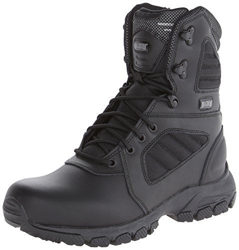 Mens Magnum - Magnum Men's Response III 8.0 Side-Zip Slip Resistant Work Boot,Black,11 M US