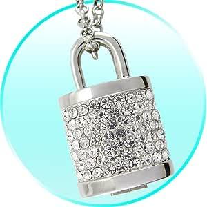 Amazon.com: 8GB USB Flash Drive Necklace - Jeweled Metal ...