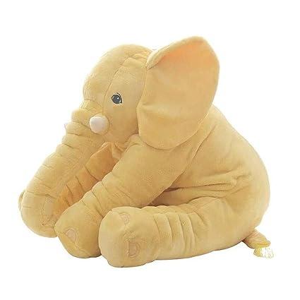 CTlite - Almohada de Peluche con Forma de Elefante para bebé, niña, niño, recién Nacido, Amarillo, 40 cm