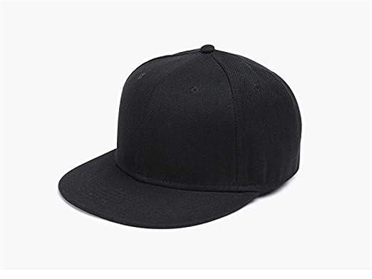 Yizhu Gorras de béisbol puras clásicas Sombreros Planos Ajustables ...