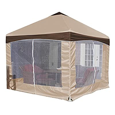 King Canopy Garden Party Canopy with Cover Caramel Crème Cover/10' x10': Garden & Outdoor