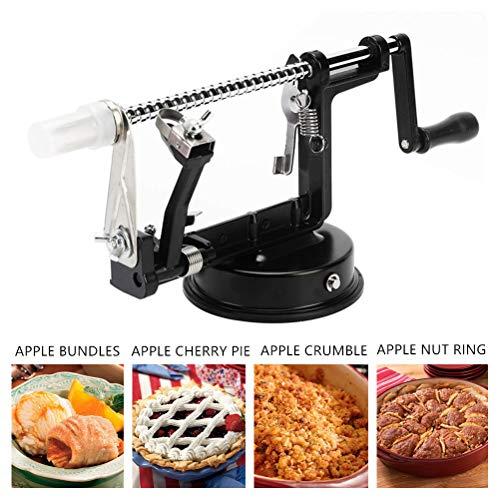 Apple Peeler and Corer,Apple Peeler Slicer Corer Durable Heavy Parer Slicer Corer with Vacuum Base Clamp Non Skid Suction Base