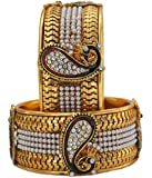 YouBella Dancing Peacock Gold Plated Bangles for Women