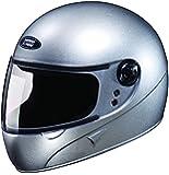 Studds Chrome Super Full Face Helmet (Silver Grey, L)