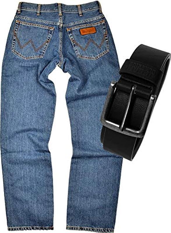 Wrangler Texas dżinsy męskie Regular Fit z paskiem: Odzież