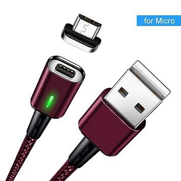 TOUSHI Cable Cargador 3A Cable magnético Micro USB Cable ...